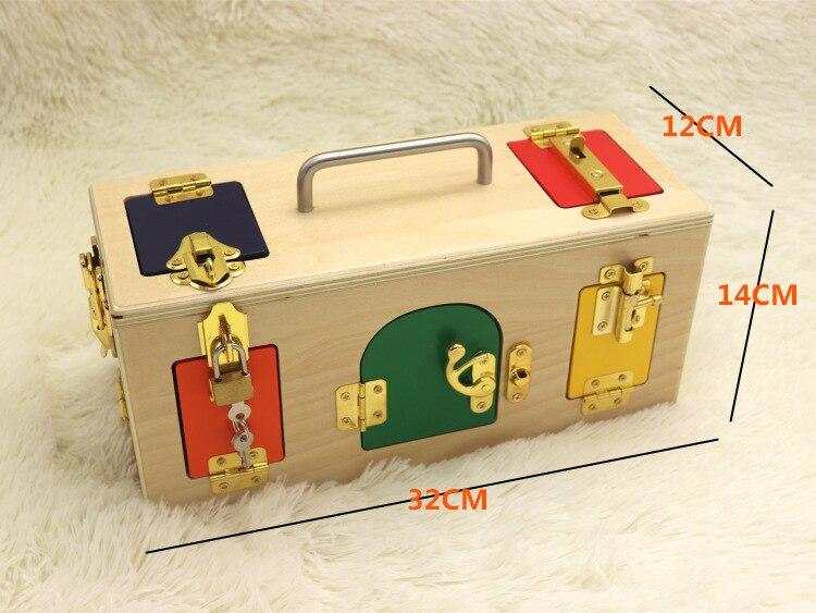 Montessori jouets 3 ans serrure boîte Montessori matériaux sensoriels éducatifs en bois jouets pour enfants Montessori bébé jouets