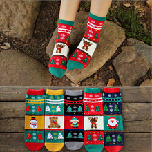 Direct selling 2014 Winter new Korean 3d meias wholesale cartoon cotton warm in tube Christmas women's socks free shipping