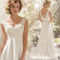Thinyfull BOHO Wedding Dress robe de mariee Backless Sexy Maternity Plus Size Country Wedding Dresses For Pregant Women