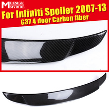 For infiniti G37 4-Door Rear Spoiler Tail High-quality Carbon Fiber Trunk Wing car styling Accessories 2007-13