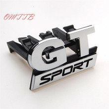 3D ABS Chrome GT SPORT Front Grill Grille Badge Emblem car covers for Volkswagen vw Golf MK5 GT 06-09 car-styling car stickers