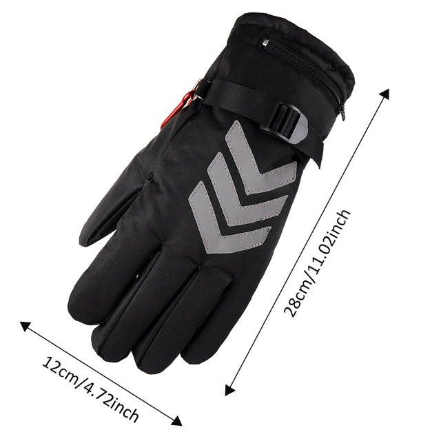 Snowmobile Ski Heated Gloves Snowboarding Thermal Gloves Snow Winter Sport Motorcycle Men Women Mittens Heating Battery Gloves 5