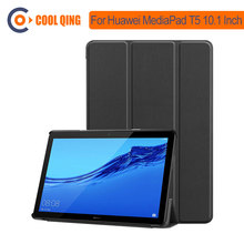 Tablet Case For Huawei MediaPad T5 10.1 Inch 2018 Tablet Covers PU+PC 10.1'' Cases For AGS2-W09 W19 AGS2-L09 L03 AGS2-AL00/AL10 mingfeng pu leather cover case for huawei t5 10 protective smart case for ags2 w09 l03 w19 10 1inch tablet pc case covers