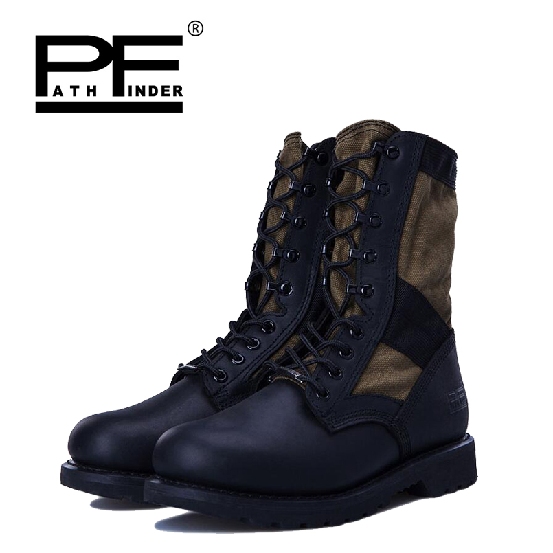 d87bfc0b2a5 Pathfinder Woen Military Tactical Boots Womens Outdoor High-top Hunting  Vintage Western Desert Army Wear