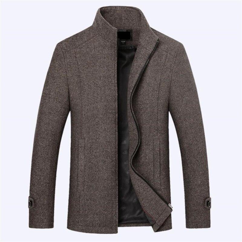 Men Autumn New Woolen Thick Warm European Style Fleece Furry Jacket Outwear Men s Winter Plush