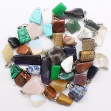 Wholesale 50pcs/lot 2017 hot selling trendy Assorted Natural stone Mixed Irregular shape pendants charms jewelry Free shippingDZ