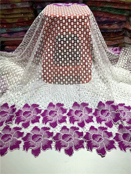 2019 New Design African cord lace with stones!wholesale price French lace fabric!High quality guipure lace fabric for party фото