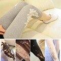 Leggings para mulheres verão coreano Floral de três quater modelo