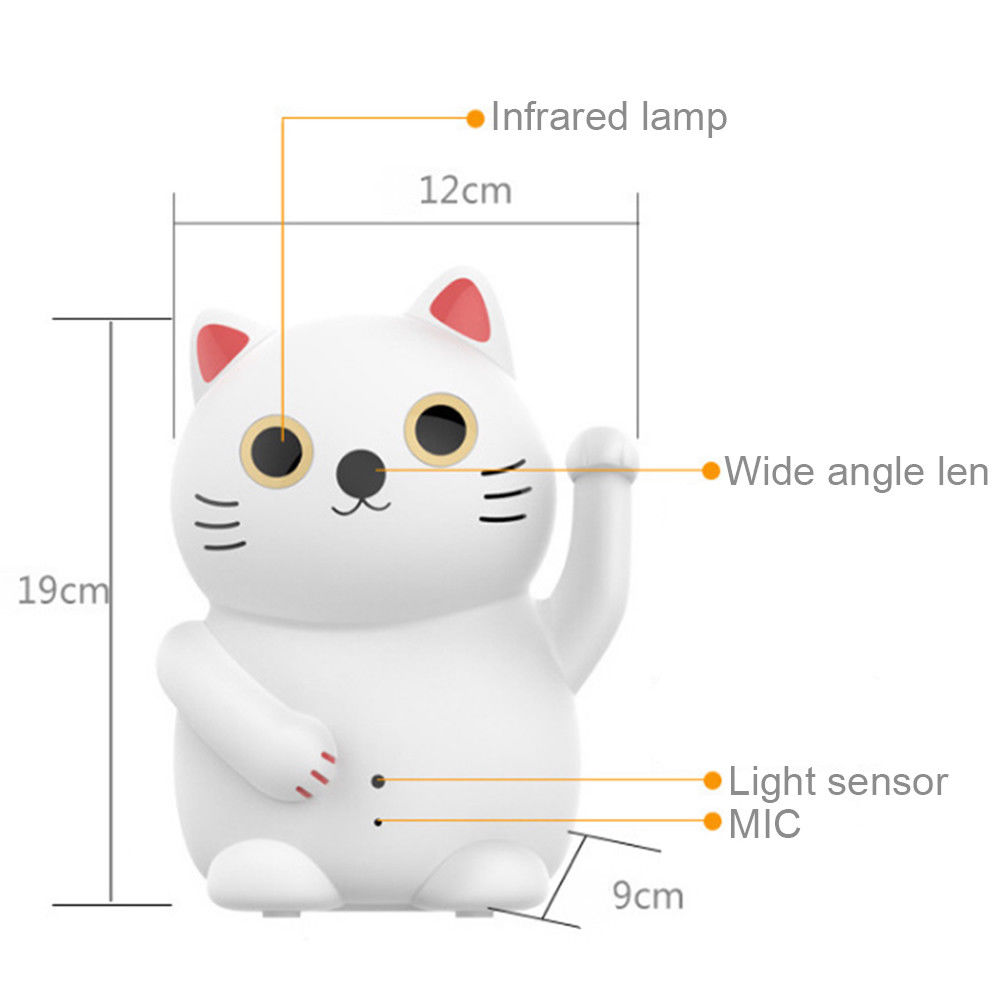 HD 1080P WIFI camera wireless security IP camera home office lucky cat cloud storage infrared night vision video surveillance image