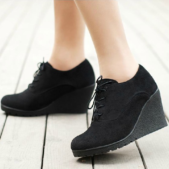 8cccb0de6f9f Free shipping spring and autumn wedges boots women casual all-match wedges  high-heeled boots ankle boots martin boots 5 colors