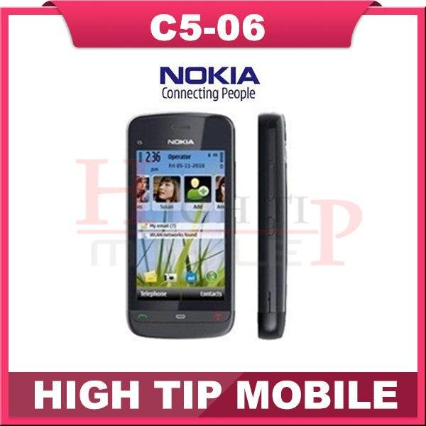 Телефон NOKIA C5-06, разблокированный сотовый четвёрка - лента 2 mp камера wi-fi GPS отремонтированный