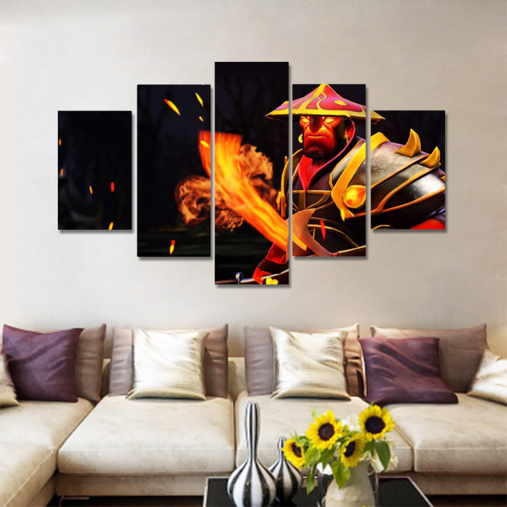 Unframed HD Canvas Prints Animation Poster Soldier With A Fire knife Prints Wall Pictures For Living Room Wall Art Decoration