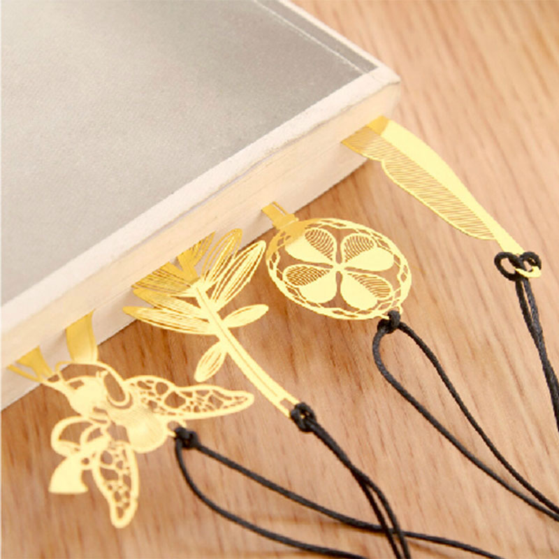 1 X Angle Leaf Bookmark Kawaii Stationery Metal Bookmarks For Book Holder School Supplies Papelaria