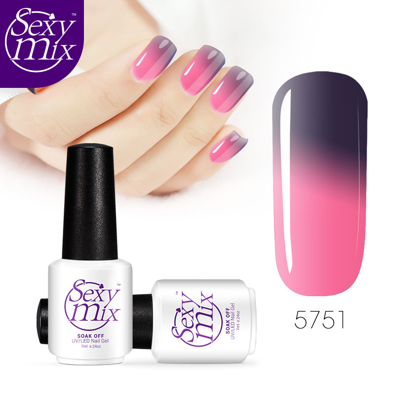 Sexy Mix UV & LED Nail Gel Polish Temperature Color Changing Nail Gel Varnish Cheap Price Manicure Color UV Gel Nail Polish