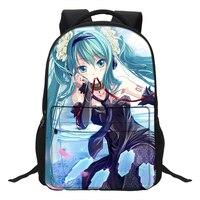 VEEVANV 2019 Fashion Women Backpacks Anime Hatsune Miku 3D Printed Children Shoulder Bags School Daypack Casual Teenage Bookbag