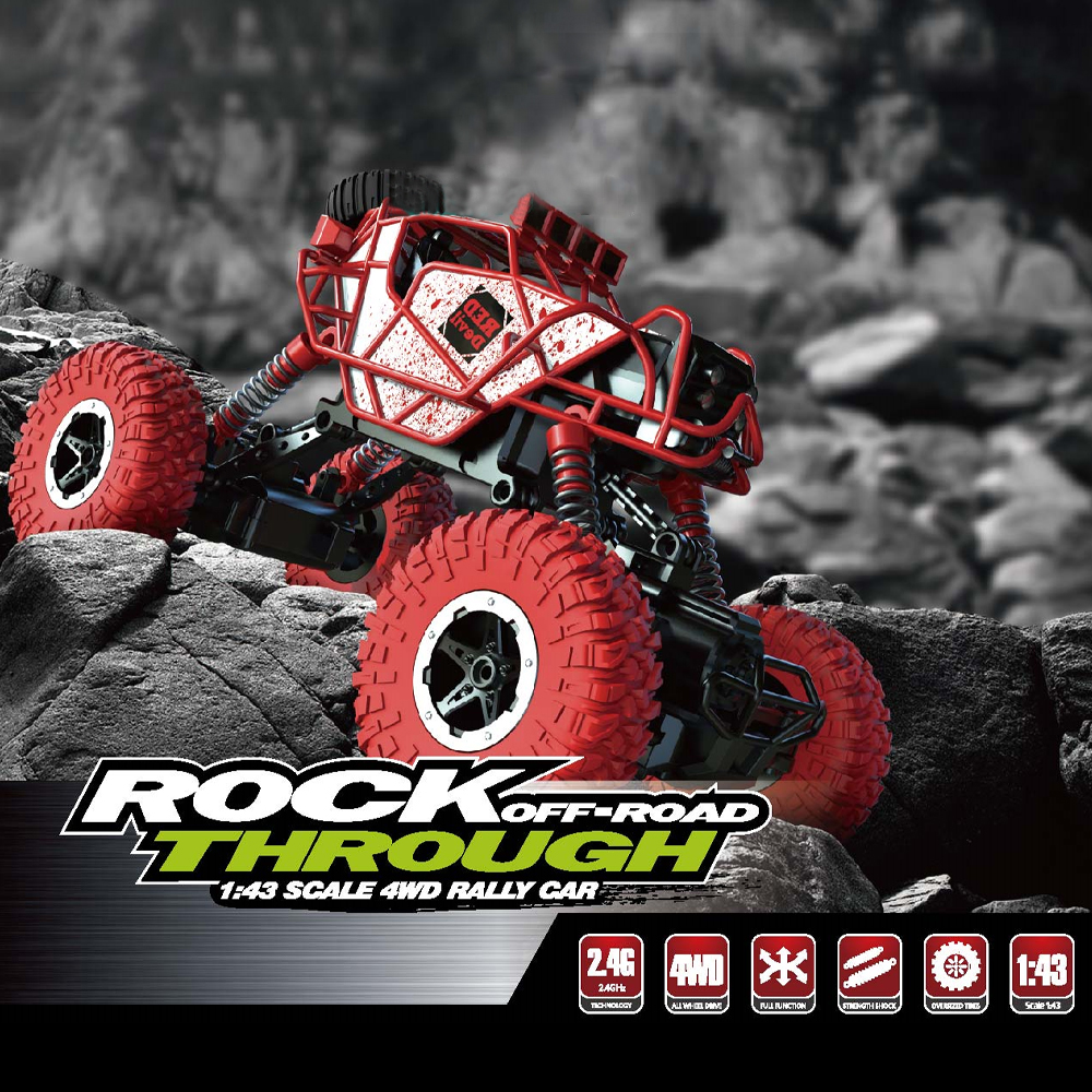 1 43 RC Car Rc Mini RC Rock Crawlers 2 4Ghz Radio Controlled Cars Off Road Radio Controlled Machine RTR Toys For Boys Gifts in RC Cars from Toys Hobbies
