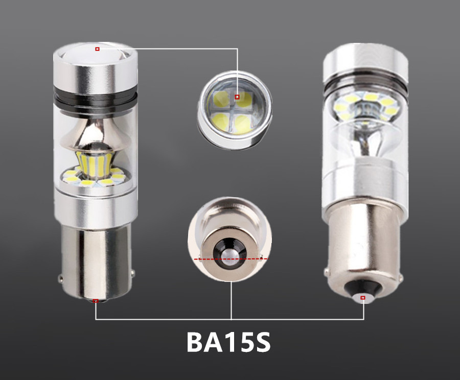 2 x Car LED Bulbs H1 H4 H7 H11 9005 HB3 9006 HB4 Bay15d Ba15s 7443 3157 360 Degree Chips Fog Light White lighting Sourcing 100W in Signal Lamp from Automobiles Motorcycles