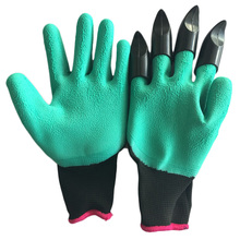 Original New Chic Design Dig Planting Mittens Gardening Gloves Novelty  Latest Hot Sale Funny Style 2018 Rubber+Polyester