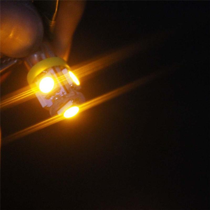 Leites 2PCS BA9S 5050 5SMD 1.2W 6500K 70LM 12V Instrument Lamp Automotive LED License Plate Lights 12v bayonet led bulbs.12