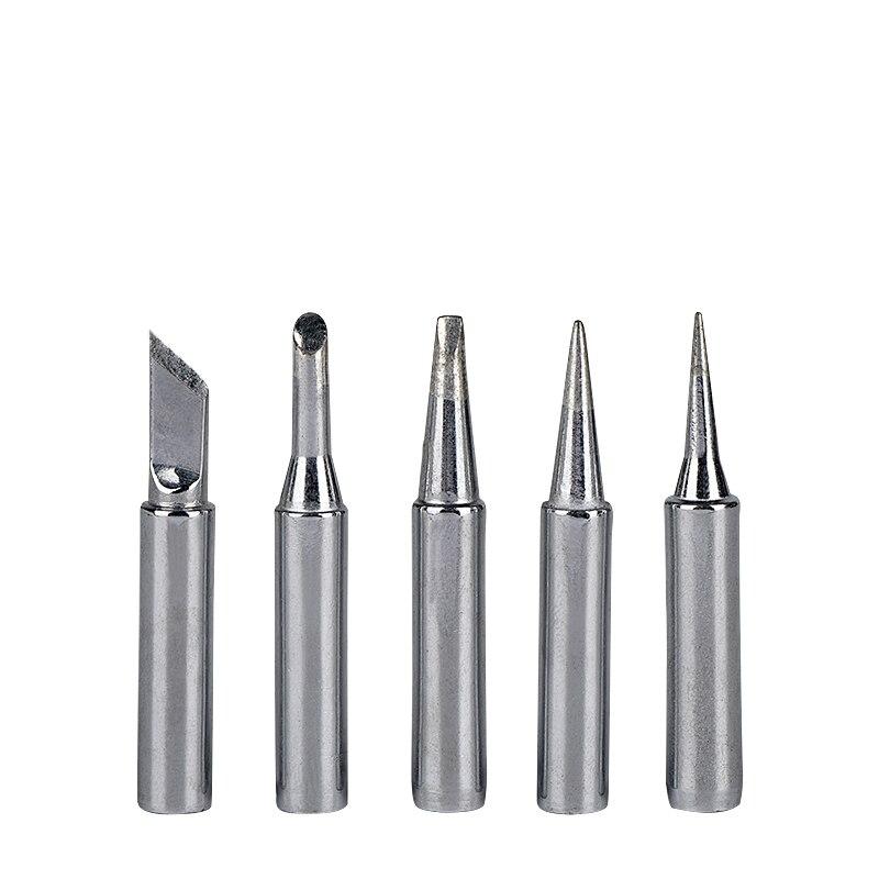 JCD Soldering Iron Tips 5pcs/lot Soldering Tip 900m-t Metal Head Lead-free Solder Welding Tips Tools For DIY Repair Rework