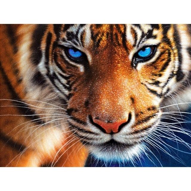 2015 real nuevo 3D DIY diamante pintura Tigre Cara la artesanía de ...