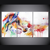 3 Panel Canvas Wall Art Canvas Abstract Dreaming Colorful Horse Home Decoration Picture For Living Room Posters Cuadro