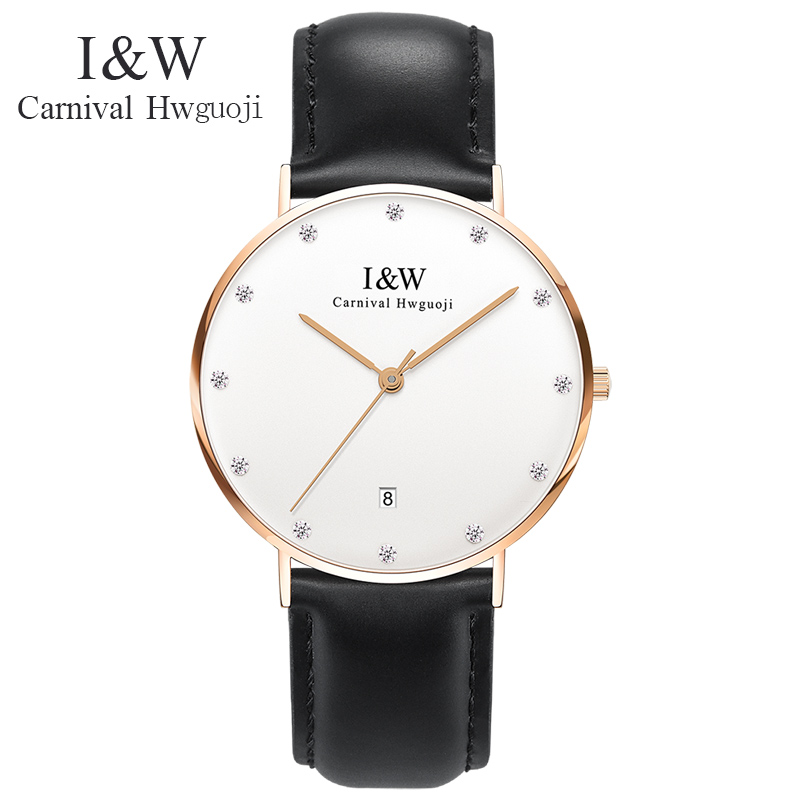 2017 Fashion Top Brand Luxury CARNICAL Quartz Watch Men Casual Quartz-watch Stainless Steel Women Dress Fashion Leather Montres fashion men s large creative quartz stainless steel dress watch