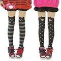 Princesa Leggins Meia-calça Lolita Harajuku Amo Macio Anime Cos Meias Over-Knee Meia-calça Da Menina do Algodão Padrão Do Coração Do Vintage