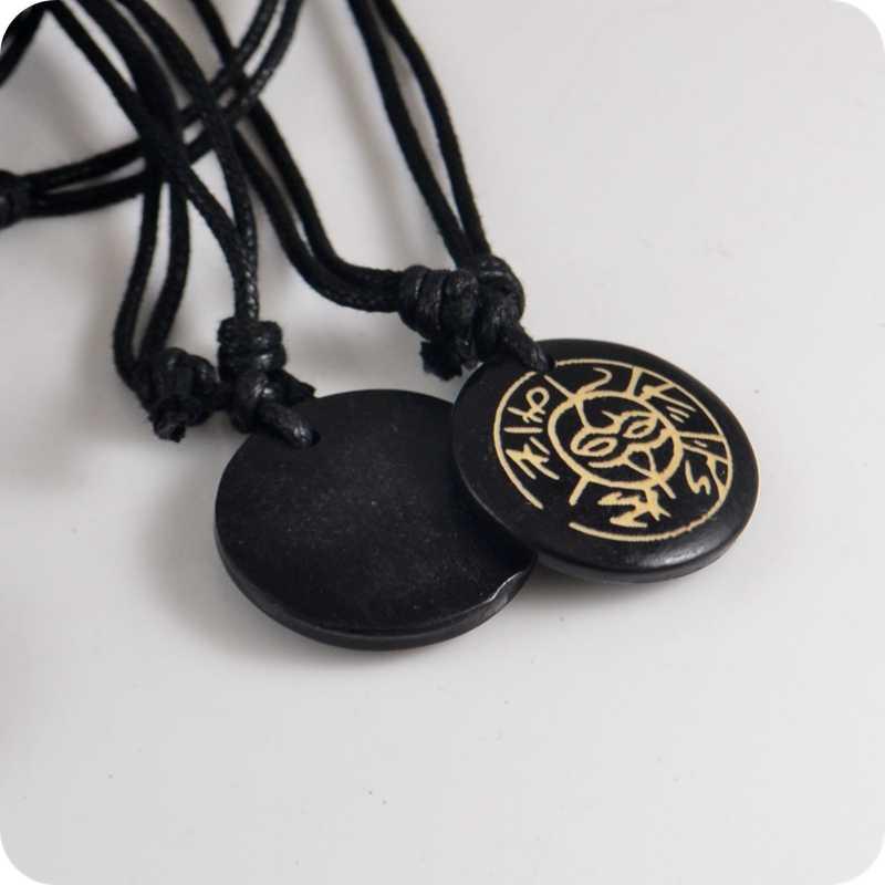 พระเจ้า Sky ตา OM MANI PADME HUM ทิเบตหกคำ mantra amulet yak bone จี้สร้อยคอของขวัญ Lucky Tribal Totem แฟชั่นเครื่องประดับ