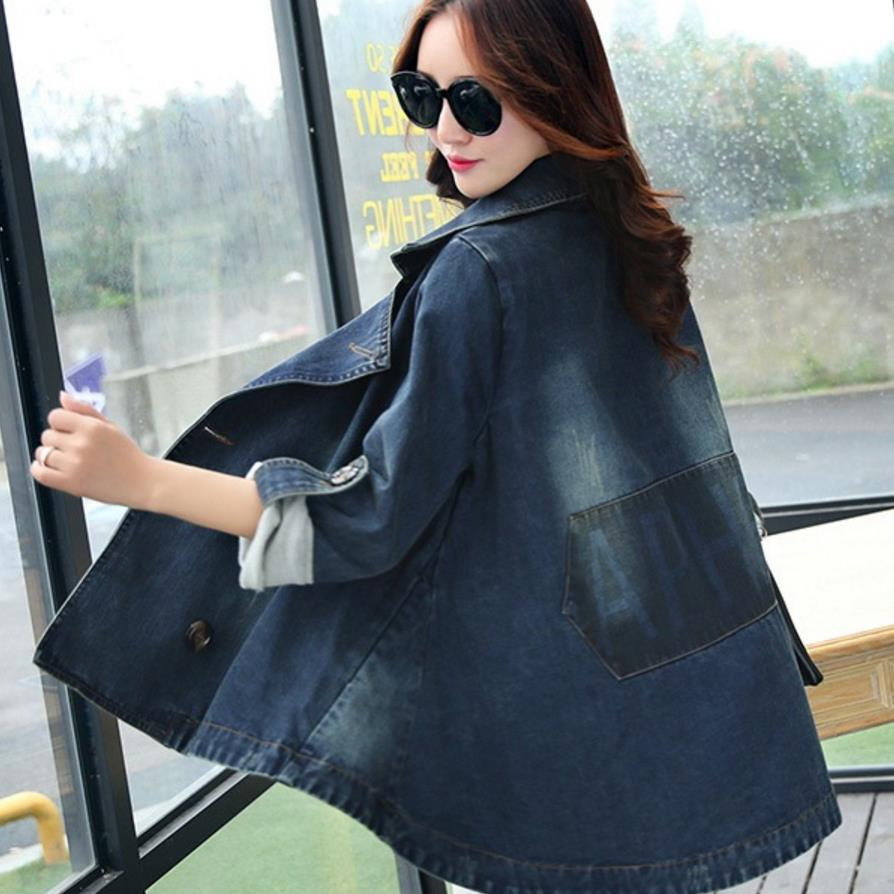 New Arrival Denim   Jacket   Women 2018 Fashion   Basic     Jacket   Women Plus Size Jeans   Jacket   Coat Tops