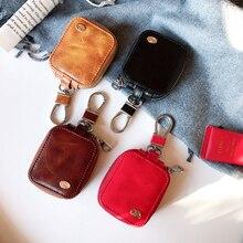Бизнес Дело Беспроводной Bluetooth наушники чехол для AirPods кожаная Беспроводная зарядка наушников Чехлы для Airpods Защитная крышка