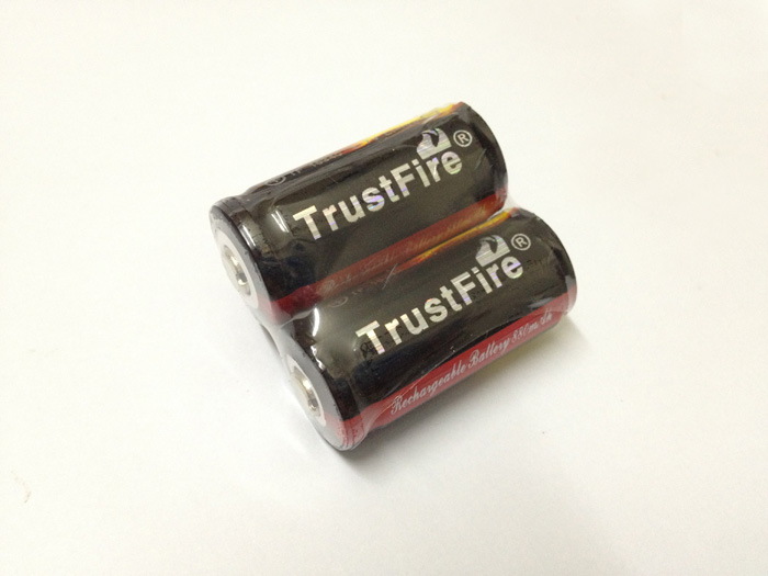 20pcs lot TrustFire Protected 16340 880mAh 3 7V Rechargeable Battery Lithium Batteries with PCB For Flashlights Torch in Rechargeable Batteries from Consumer Electronics