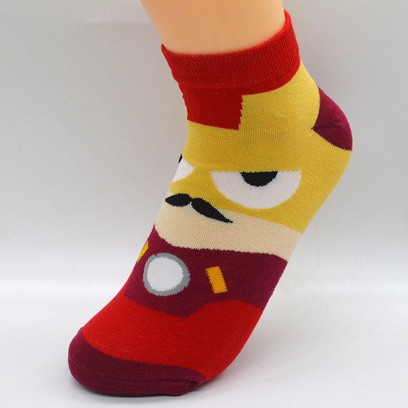 ALI shop ...  ... 32838129227 ... 3 ... 5 Pair/set Cartoon Superhero Women Socks Cotton Harajuku Kawaii Cute Fashion Girls Short Ankle Invisible Socks with Gift Bag ...