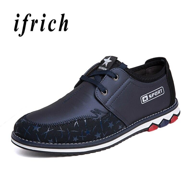 La Goma Calzado Hombre Black Moda Marca De blue Suela Caminar Los Para Zapatos Azul Casual Negro Planos Hombres 6wwURqB4x