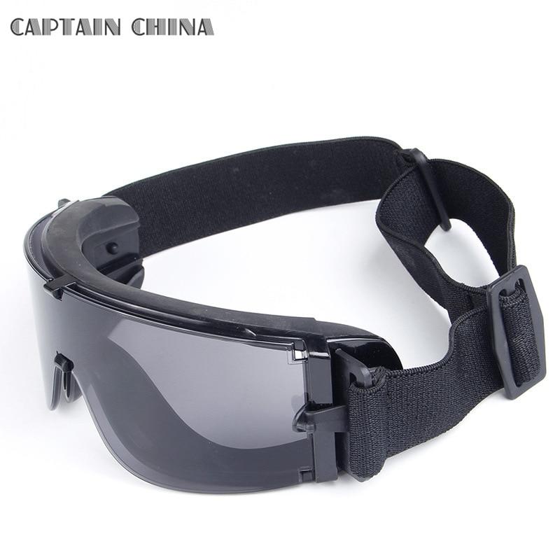 Black Tan Green Military Tactical Gogle Airsoft Okulary Outdoor - Ubrania sportowe i akcesoria - Zdjęcie 3
