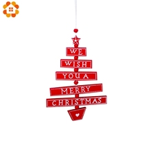 1PCS Merry Christmas Colorful Wooden Pendants Ornaments Kid Gift Xmas Tree Ornament Wood Crafts For Christmas Party Decoration