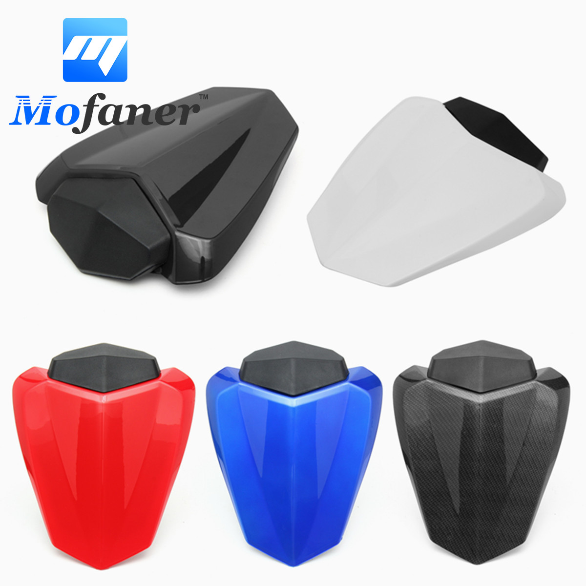 Mofaner Motorcycle ABS Plastic Rear Seat Cover Cowl For Yamaha YZF R1 2009-2014 BS1 for ktm 390 duke motorcycle leather pillon passenger rear seat black color