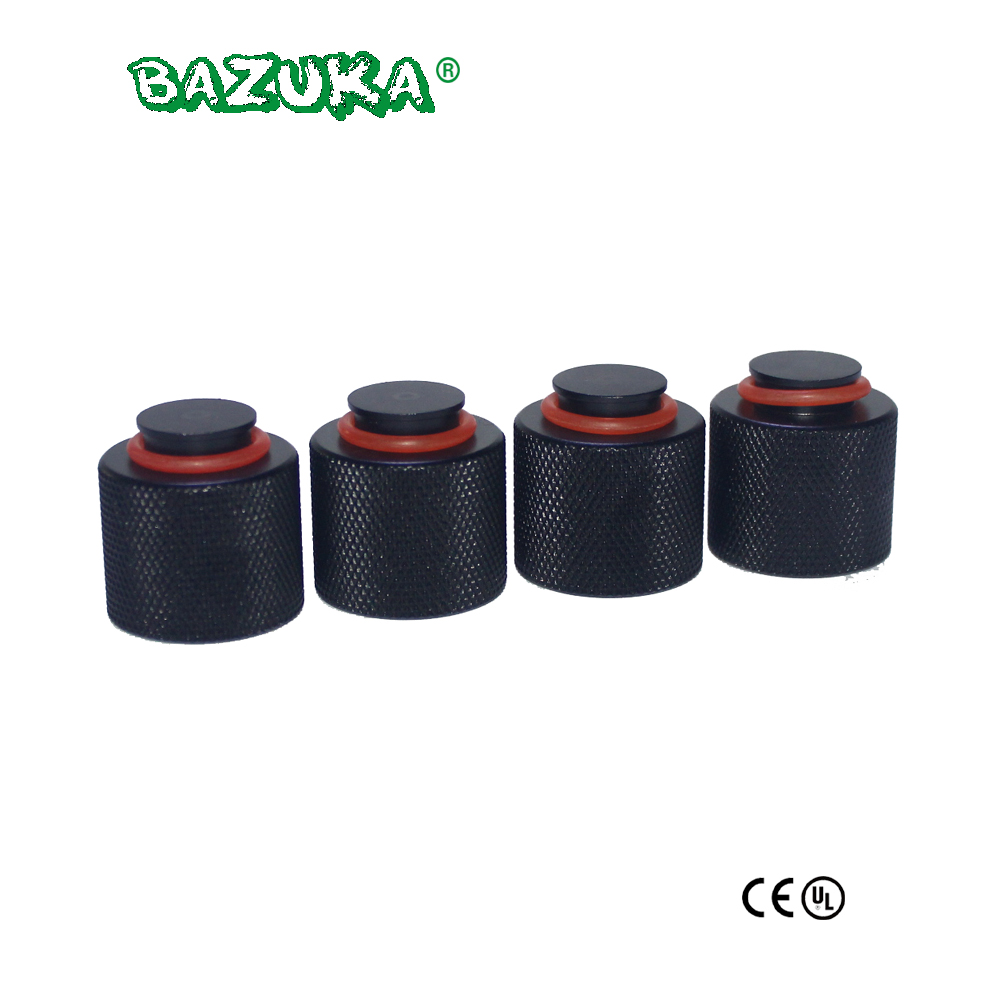 New Paintball Air Gun Airsoft PCP Air Rifle HP Air/CO2 Tank Regulator Valve Aluminum Thread Protector 4pcs