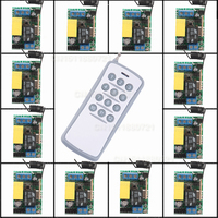 220V 12CH Wireless Remote Control Switch System Light/Lamp LED SMD Access System ON OF