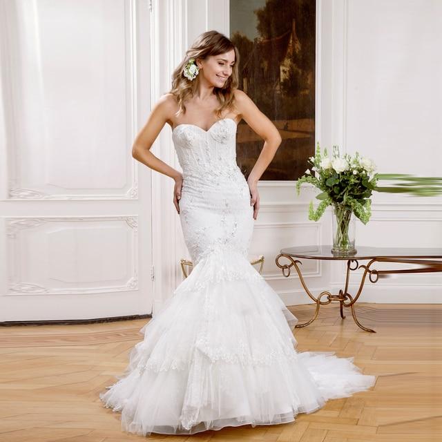 Vestidos de novia corte sirena fotos