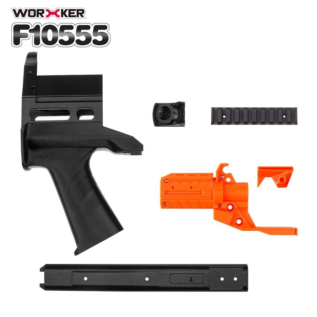3D Impression No 128 JSSAP SMG Avant Tube Kit + 25 CM En Plastique Fileté Modifié Extension de Canon pour Nerf Stryfe