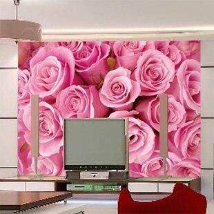 benutzerdefinierte groe mural wandmalerei sofa schlafzimmer wohnzimmer tv hintergrund 3d wallpaper 3d tapete romantische rosen bemalte