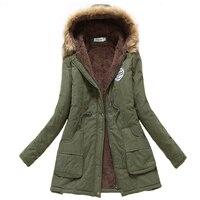 2019 winter jacket women wadded jacket female outerwear slim winter hooded coat long cotton padded fur collar parkas plus size