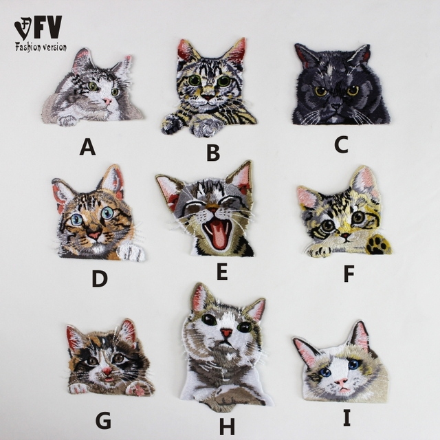 Pocket Cat Embroidered Cloth Clothing Patches Creative Embroidery