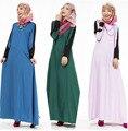 2016 Мусульманин Платье Абая Исламской Одежды Кафтан Jilbabs и Abayas Мусульманин Хиджаб Платье JZ2434