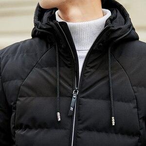 Image 5 - Veste et manteau dhiver à capuche pour homme, vêtements chauds et rembourré, à la mode, Parka pour hommes, 2018, 4XL, décontracté