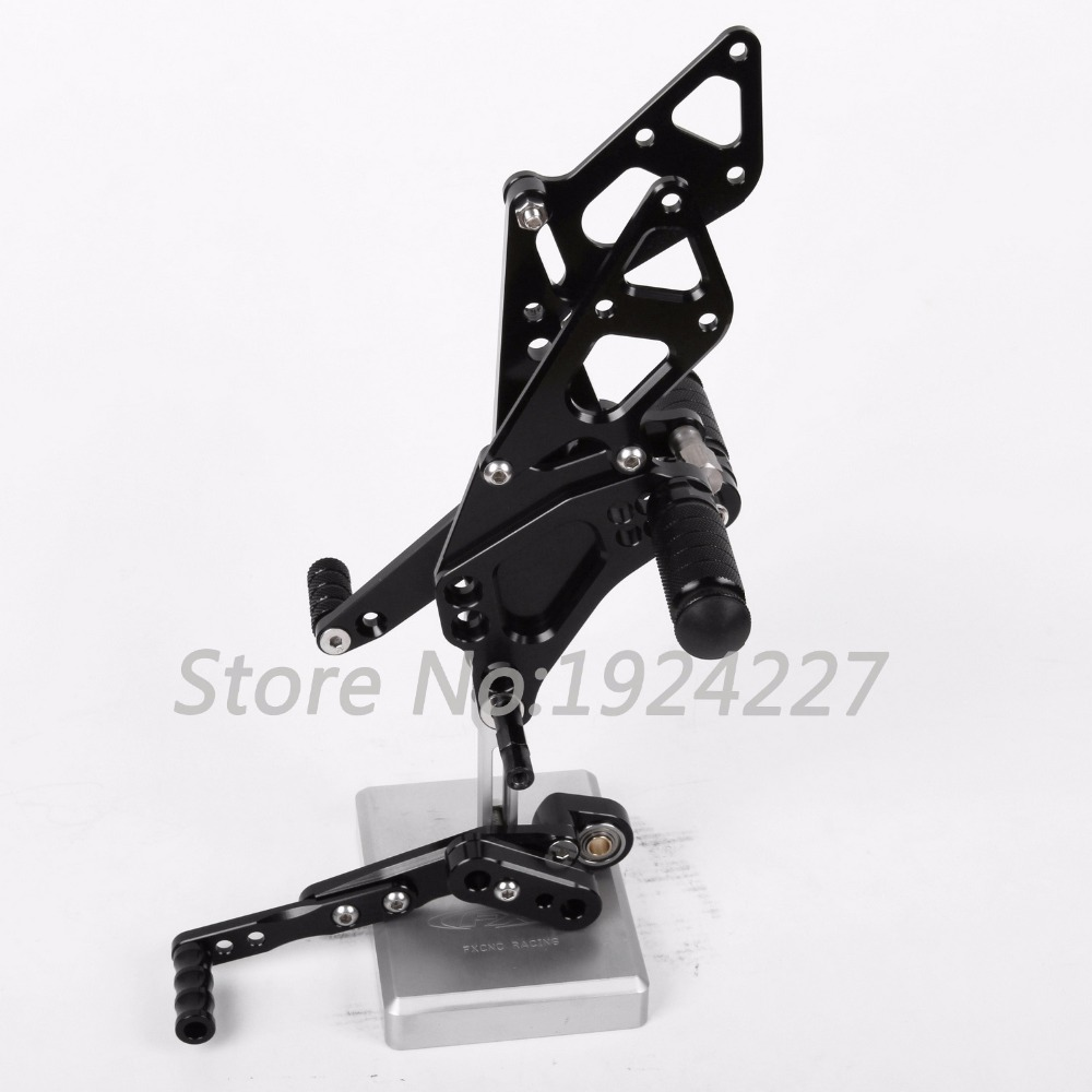 Motorcycle Footrest Adjustable Foot Pegs Rear Set For Suzuki GSXR 1000 2009-2014 Hot High-quality Motorcycle Foot Pegs Black