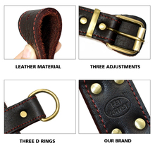 """Genuine Leather Dog Harness Brown Walking Training Harnesses 23""""-34.5"""" Adjustable Chest Large Dogs Pitbull"""