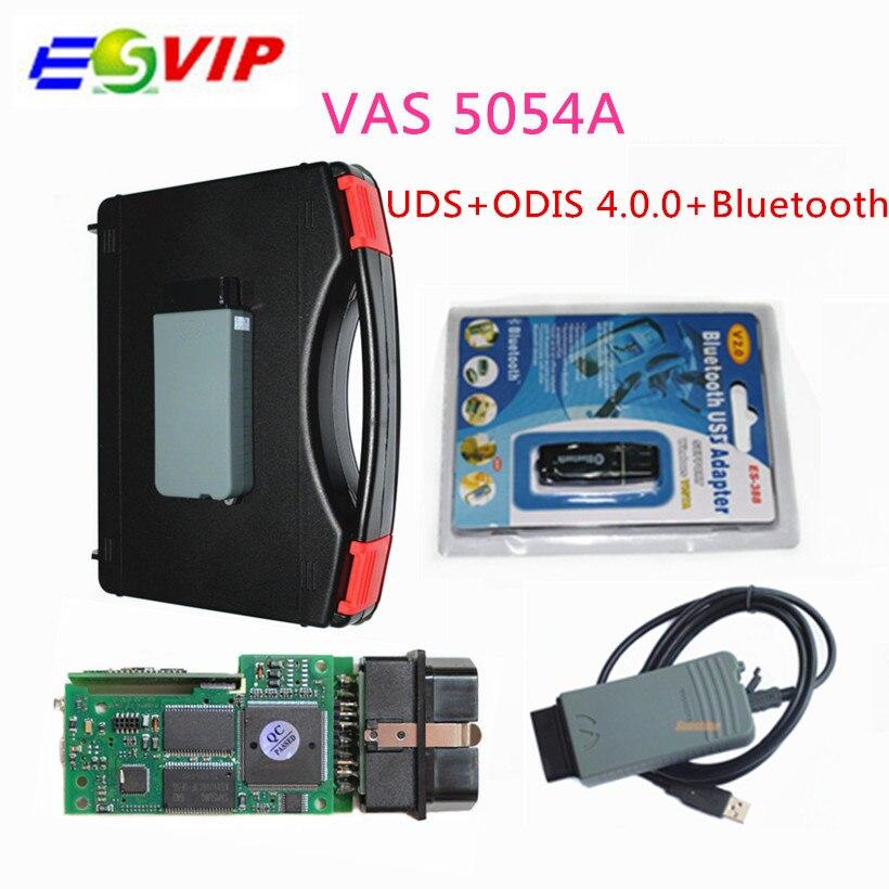 Livraison Gratuite VAS 5054A auto Outil De Diagnostic ODIS V3.0.3/4.13 logiciel Bluetooth Soutien UDS VAS5054A sans OKI bateau