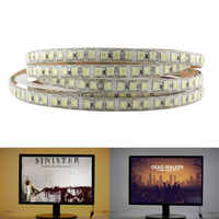 DC 12V 24V PC 5054 LED Strip light 5M 120Led/m Flexible Led Light Strip lights 12 24 V Volt Diode Ledstrip Waterproof White Warm